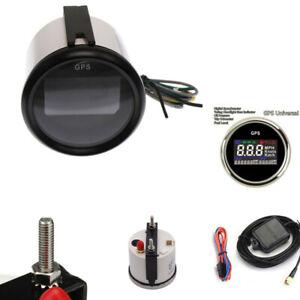52mm Motorcycle Digital GPS LCD Gauge Odometer Multiindicators Speedometer Meter
