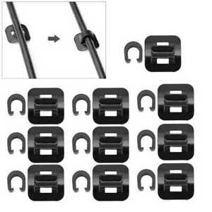**  10 PACK -  SELF ADHESIVE CABLE GUIDES & C CLIPS - BLACK**