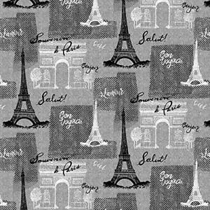 Paris Fabric BTY, Bonjour Paris Motifs, C8686, Quilting Cotton, TheFabricEdge
