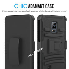 For Samsung Galaxy Note Edge Hybrid Armor Case Cover Holster Belt Clip Stand