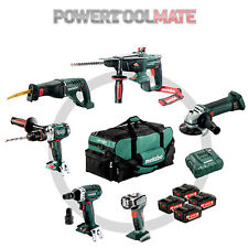 Metabo 691008000 Cordless 18v Construction Combo Set 6 Piece 4 X 4.0ah Batteries