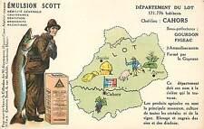 EMULSION SCOTT,Département du Lot,Cahors, carte Publicitaire.(40)