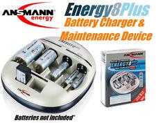 Ansmann Energy 8 Plus AAA AA C D 9V 8 cell NiMH NiCd Battery Maintenance Charger