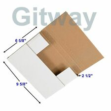 "50 - 9 5/8 x 6 5/8 x 2 1/2"" Multi Depth Cardboard Book Mailer Shipping Box Boxes"