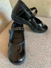 DANSKO Black Patent Leather Mary Janes Shoes Clogs Size 41