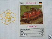 24 EK LOKS D4 DB GERMANY KLAS DH 260 TRAIN TREIN KWARTET KAART,