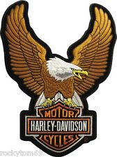 "Harley-Davidson Brown Up-wing Eagle Patch 10 1/2 x 7 3/4 "" LG EMB328394"