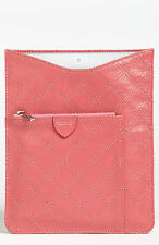 MARC JACOBS Pink Leather IPAD Tablet Cover Case Msrp $395