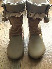 Pair of Boots - EU Size 25, UK 7 - Beige In VGC