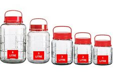 LARGE GLASS JAR AIRTIGHT CONTAINER CLEAR FOOD PRESERVE SEAL-ABLE STORAGE LID