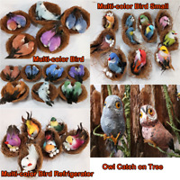 Fake Birds Realistic Feathered Artificial Craft Animals Home Garden Decor Gift