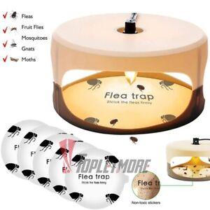 Electric Flea Trap Killer Home Pest Control Sticky Discs Spare Pads Non-toxic