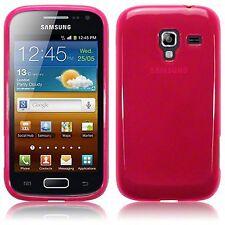 Para Samsung Galaxy Ace 2 i8160 Delgado TPU Gel silicona piel caso cubierta trasera