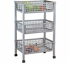 Tontarelli 3 Tier Vegetable Trolley Ideal Storage For A Variety Of Products _UK