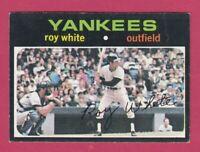 1971 Topps Baseball  # 395 Roy White - New York Yankees