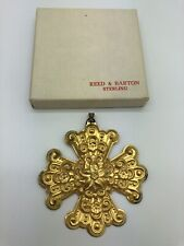1974 Reed & Barton Sterling Silver Annual Christmas Cross Ornament Medallion