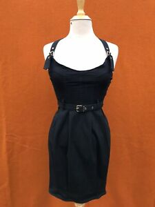 Mossimo  shoulder straps black, racer back mini dress. Size 10 ( petite ).