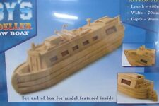 Hobby's MM26 Matchmodeller - Canal Boat Matchstick Model Boat Kit - T48 Post