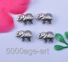 Wholesale 20pcs tibetan silver lovely double loose elephants spacer beads MH2015