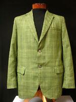 VINTAGE 1960'S GREEN PLAID SPORT JACKET SZ 38