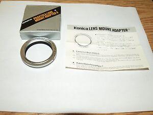 KONICA LENS MOUNT ADAPTER f/ M42 SCREW PENTAX PRAKTICA NEW GENUINE BRAND in BOX