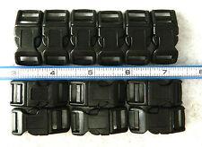 Twelve 1/2 Inch Contoured Side Release Buckles for 550 Paracord Bracelets