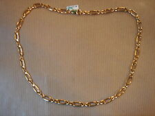 CHAINE PLAQUE OR MAILLE LARGE LONG 50 CM 21G VINTAGE NEUF/NEW GOLD PLATED CHAIN