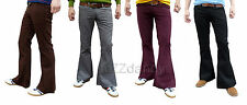 Mens Flares Bell Bottoms vtg Cords indie Mod Hippy Flared Pants Corduroy 60s 70s