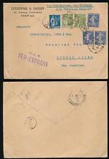 FRANCE 1934 SUD EXPRESS to ARGENTINA SHIP HIGHLAND MONARCH..PERSONNAZ GARDIN ENV