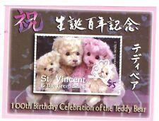 "St. Vincent - Teddy Bears ""Japanese Bears"" Stamp - Souvenir Sheet MNH"