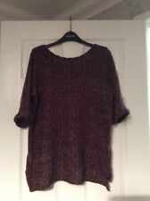Topshop Purple Mix Knitted Jumper Size 10 Vgc