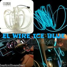 5M Cool Ice blue Car LED EL Wire Neon Light Glow Tube Baleno Ciaz Brezza Swift