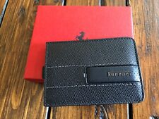 Genuine Ferrari Black Card Holder Pouch Extremely RARE Made in Italy New in BOX