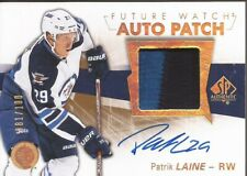 PATRIK LAINE 2016-17 SP Authentic Future Watch Rookie Auto Patch #81/100 Jets RC