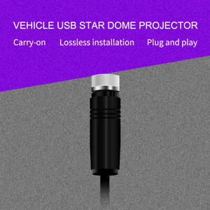 Car LED Roof Star Projector Atmosphere Galaxy Lamp USB Decorative Lights Blue