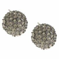 Joan Rivers Earrings Crystals Shimmering Pave' Ball QVC  $67