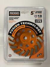 Ridgid 5 Concrete Grinding Coating Removal Leveling Diamond Cup Wheel Taw5018p1