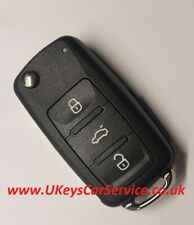 VW Volkswagen 5K0837202 5K0837202Q 3 Button Remote Key Fob Blade HU66 Case Cover