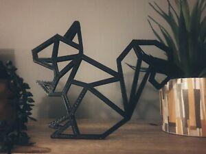 Geometric Squirrel for Wall or Shelf Art