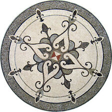 "48"" Handmade Decorative Medallion wall floor Marble Mosaic Art Stone Tile Decor."