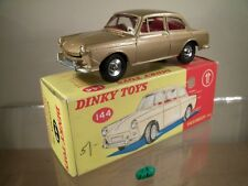 DINKY TOYS No 144 VOLKSWAGEN 1500 SALOON (MINT/BOXED) (V.RARE,GOLD/RED INTERIOR)