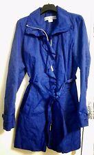 Damen Kurzmantel Trenchcoat mit Rüschen von Ashley Brooke Gr.34