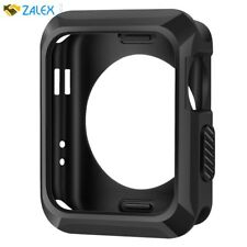 Case Screen Protector For Apple Watch 42mm Rugged Sport iWatch Matte Black New