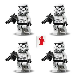 Lego Star Wars Minifigure - 4 Pack of Stormtroopers (New Version with Blaster)