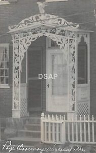 C30/ Wiscasset Maine Me RPPC Real Photo Postcard c40s Page House Doorway 2