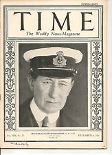 Time Magazine December 6, 1926 Senator Guglielmo Marconi G.C.V.O.