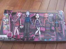 Monster High 5 Dolls Pack MAUL MONSTERISTAS w/ Invisi Billy Gigi Grant NEW