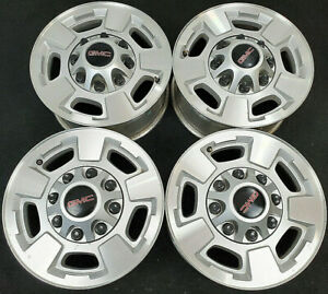"2011-2020 CHEVY SILVERAD 3500 HD FACTORY ORIGINAL OEM 17"" ALLOY WHEELS RIMS 5500"