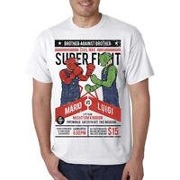 Mario Vs. Luigi Bros Video Game T-Shirt - Funny Gamer Boxing Nerd / Geek Tee
