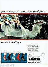 PUBLICITE ADVERTISING 086  1967  les chaussettes enfant Collégien